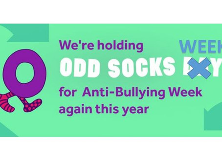 Odd Socks for Anti-Bullying Week - November 16th - 20th