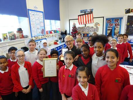 Ruth Truelove BEM visits School