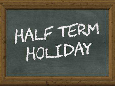 Whit Week Half Term Holiday