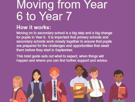 Transition Information for Year 6 Pupils applying for Secondary Schools