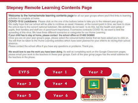 Remote Learning Pages