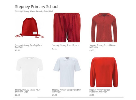 Order the Stepney School Uniform online and then collect from school