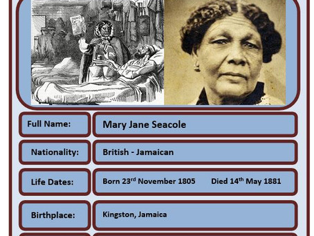 Famous Brit of the Week #82 - Mary Seacole