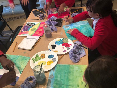 Year 5 David Hockney Day at Warter with Hull and East Yorkshire Children's University