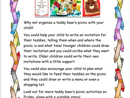 Activity Ideas for EYFS & Year 1 pupils 27th May