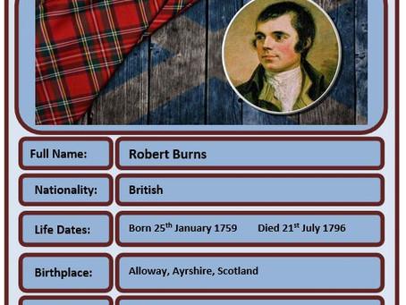 Famous Brit of the Week #67 - Robert Burns