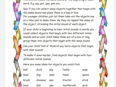 Activity Ideas for EYFS & Year 1 pupils 25th May