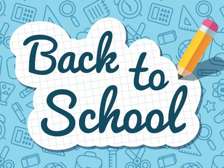 Back to School Tomorrow on Tuesday 13th April