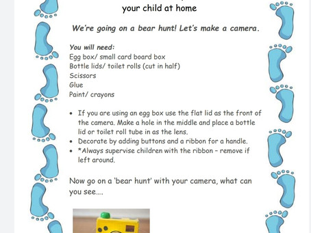 Activity Ideas for EYFS & Year 1 pupils 24th June