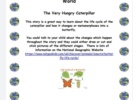 Activity Ideas for EYFS & Year 1 pupils 30th June
