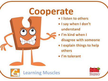 Growth Mindset Learning Muscle of the Week: COOPERATE
