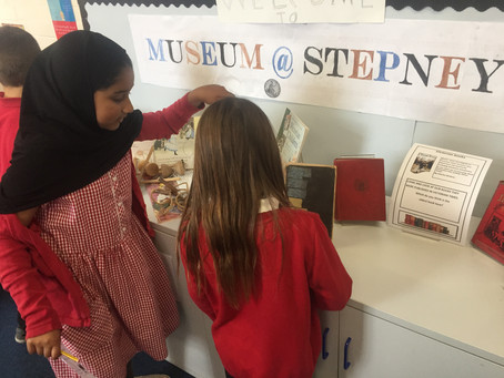 Pupils set up their very own Victorian Museum at Stepney