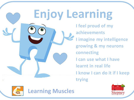 Growth Mindset Learning Muscle of the Week: Enjoy Learning