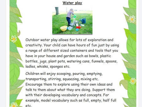 Activity Ideas for EYFS & Year 1 pupils 15th June