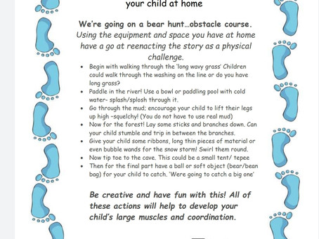 Activity Ideas for EYFS & Year 1 pupils 26th June