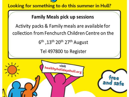 Hot Meals Offer from Fenchurch Children's Centre