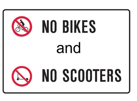 No Bikes or Scooters at School, Please
