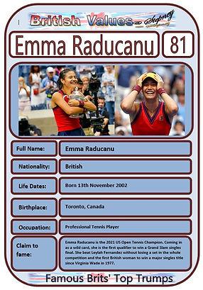 British Values Top Trumps Famous Brits (81) Emma Radacanu.JPG