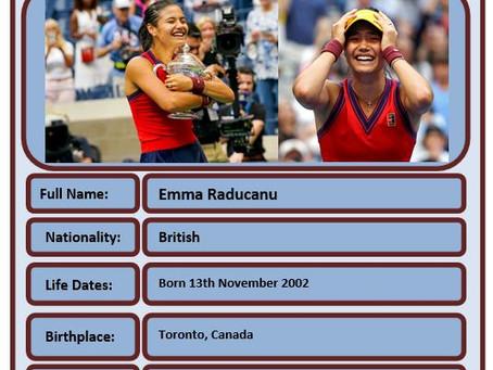 Famous Brit of the Week #81 - Emma Raducanu