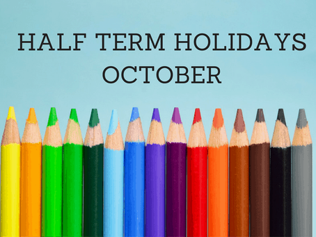 We break up for Half Term Holiday today for One Week