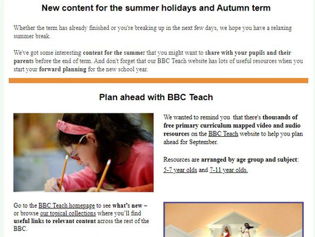 BBC Bitesize Summer Activities