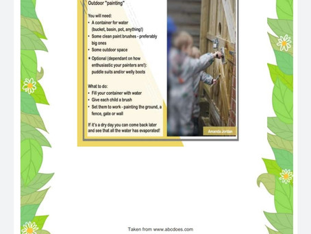 Activity Ideas for EYFS & Year 1 pupils 24th April