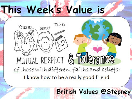 British Values Ethos of the Week