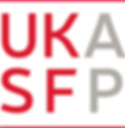 Logo of the UK Association of Solution Focused Practice (UKASFP), and link to their website
