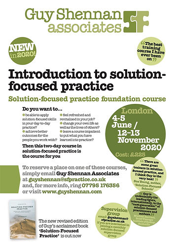 GuyShennan solution-focused training courses 2020