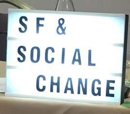 Solution-focused practice and social change - a sign representing the beginning of the Solution-Focused Collective