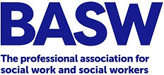 Logo of the British Association of Social Workers and link to their website