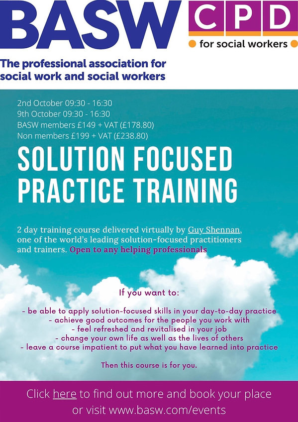 Solution-focused training by Guy Shennan