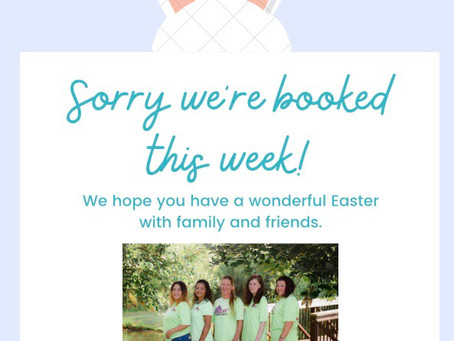 Sorry we're booked this week of March 29th!