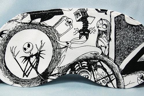 Skeleton Head sleep mask (made w/Licensed cotton print fabric)