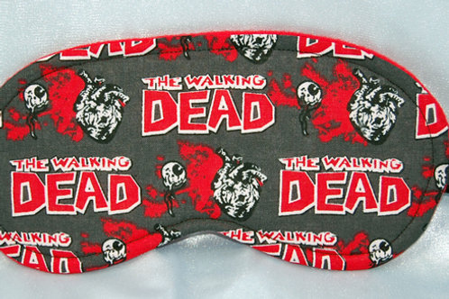 Sleep Mask made with licensed Zombies/dead cotton fabric