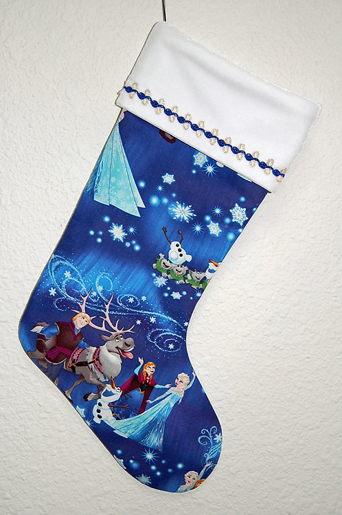 Stocking made with licensed Frozen-Characters cotton print fabric