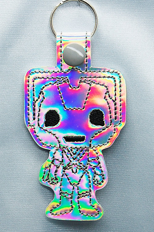 Dr. Space Cyber Robot snap tab key fob