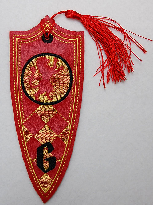 Wizard Lion House Banner embroidered bookmark (matte)