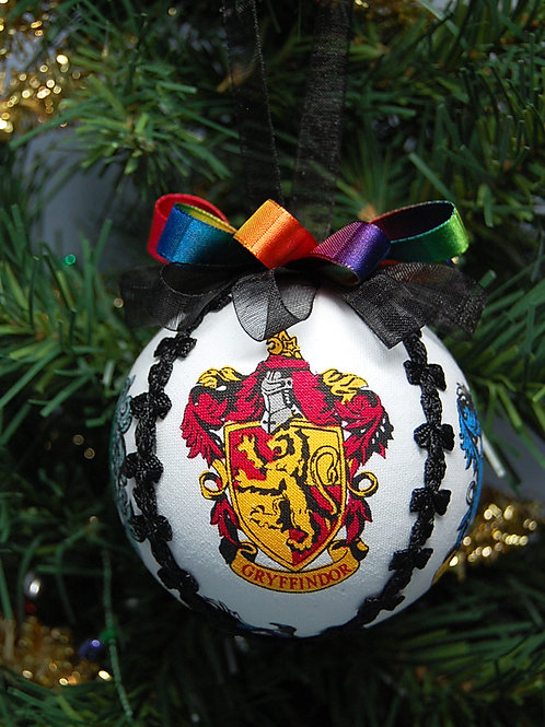 """Wizard Houses (white) ornament- 3"""""""