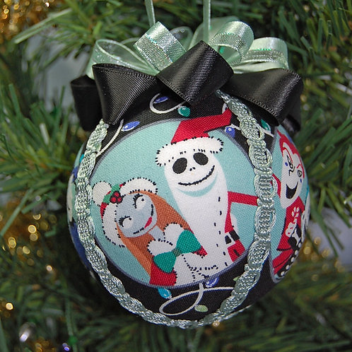 """Skull Head characters ornament - 3"""" (made from Licensed cotton print fabric)"""
