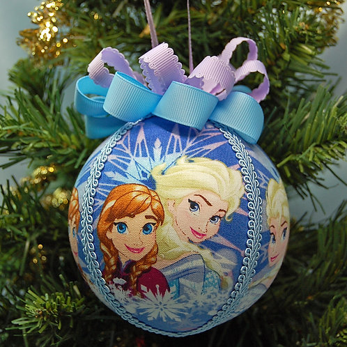 "Frozen sisters ornament - 4"""