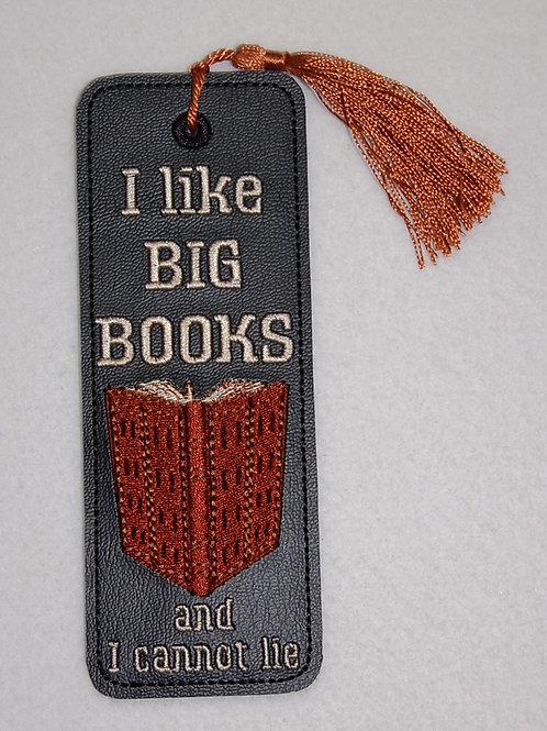 I Like Big Books embroidered bookmark