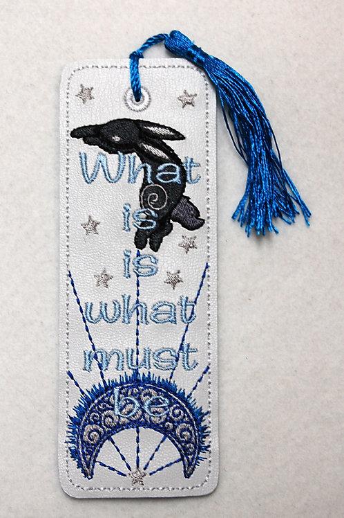 Rabbit/Moon embroidered bookmark