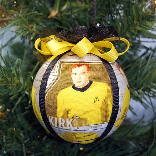 "Star Explorer Captain - yellow ornament - 3"""
