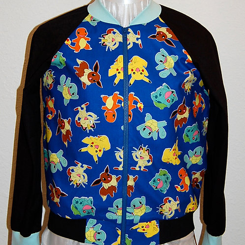 Video Game Characters ladies jacket (made from Licensed cotton print fabric)