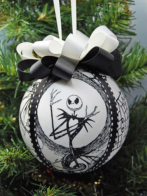 """Ornament made with licensed Nightmare Before Christmas licensed fabric - 4"""""""