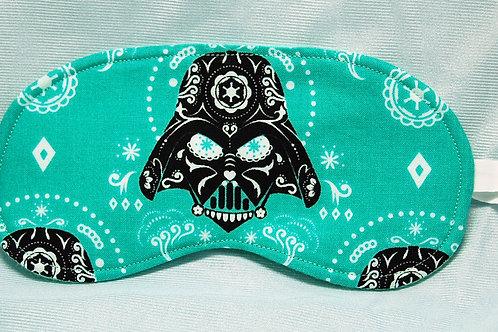 Sleep Mask made with licensed Star Wars Sugar Skull Darth cotton fabric