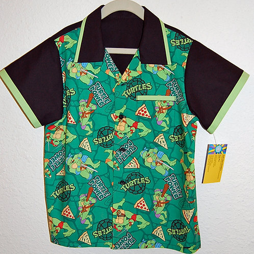 Cartoon Turtles child shirt (made from Licensed cotton print fabric)