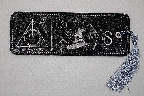 Wizard Symbols embroidered bookmark