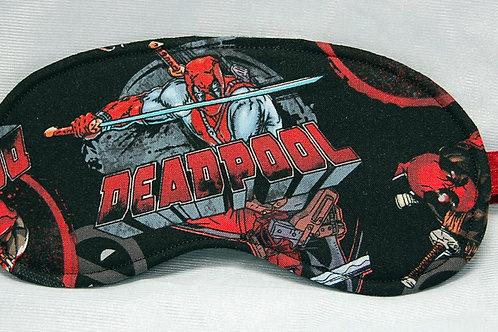 Antihero/black sleep mask - made w/Licensed cotton print fabric